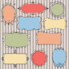 Set doodle frames