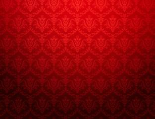 vintage red wallpaper