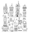 Abstract city buildings set, Sketch collection - 72385627