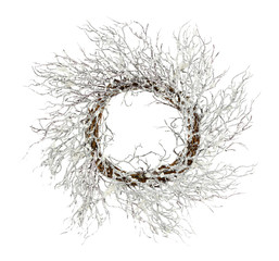 Decorative Christmas wreath isolated on white