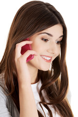 Teen calling to someone