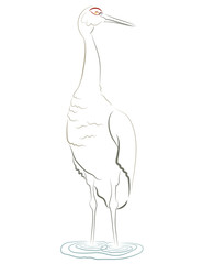 abstract crane
