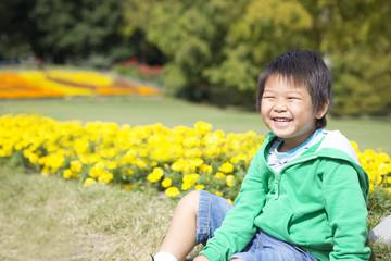 花畑の子供