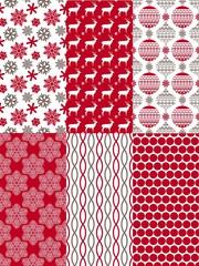 Set of Christmas seamless patterns.