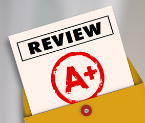 Review A Plus Report Card Great Score Rating Evaluation