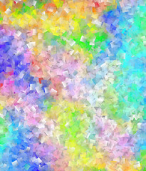 Abstract rainbow-colored mosaic background