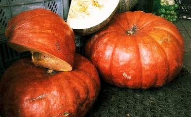 Pumpkins from the greengrocer
