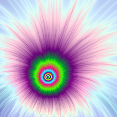 Explosion in Green Purple and Blue