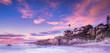Leinwandbild Motiv Laguna Beach in Calfornia at sunset