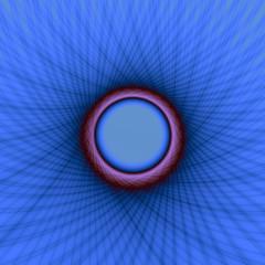 Blue and Purple Window Frame