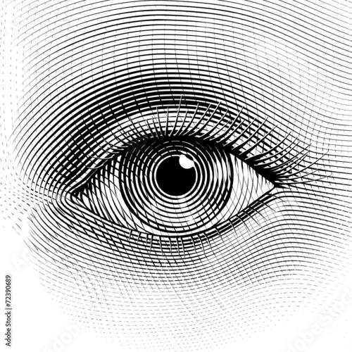 Vector eye - 72390689