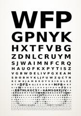 Vector eye chart