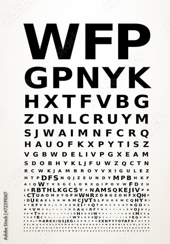 Vector eye chart - 72391067