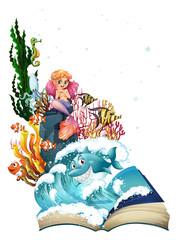 Mermaid and ocean