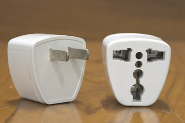 Universal plug converter in front and back