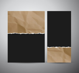 Abstract Torn paper brochure design or roll up.