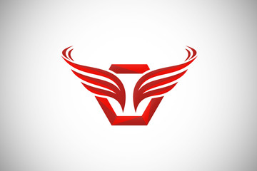 abstract wing business abstract logo vector