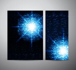 Lens flare vector background, Brochure design or roll up.