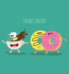 coffee and donut friends forever