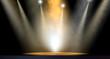 Leinwandbild Motiv Spotlit Stage