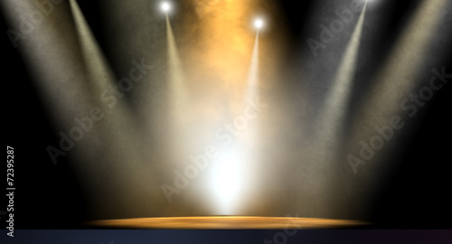 Leinwanddruck Bild Spotlit Stage