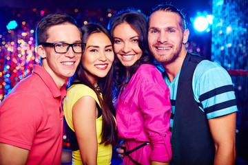 Friends at nightclub