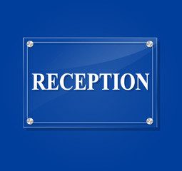 reception transparent sign