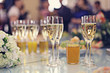 restaurant serving juice champagne glasses - 72397016