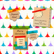 greeting notepapers  for christmas and the new year