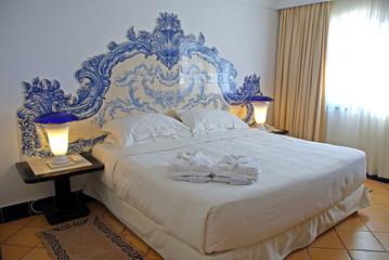 Beautiful hotel bedroom interior