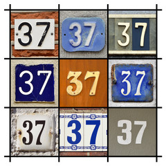 Collage of House Numbers Thirty-seven