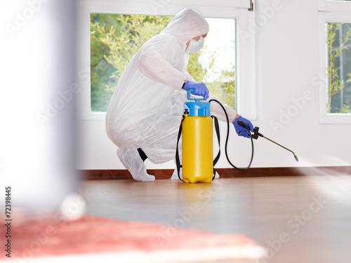 Pest controller at work Nachricht für Bildmoderator: - 72398445