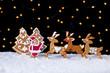 Santa welcoming his deers - food setting