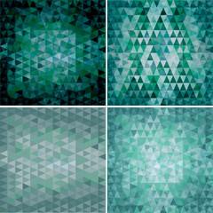 set of four triangular backgrounds