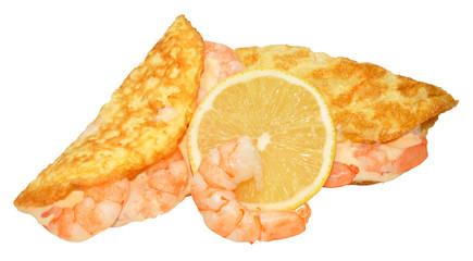 Prawn Filled Omelette