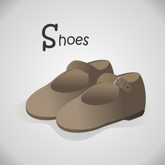 Abecedario en Inglés_S de Shoes