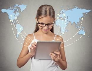 Children modern communication technology pad computer
