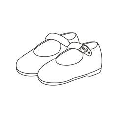 Zapatos para colorear sin fondo