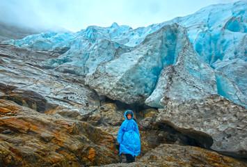 Boy near Svartisen glacier (Norway)