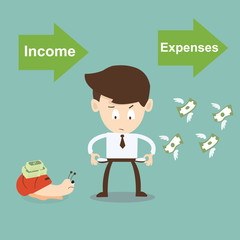 Income and Expenses concept