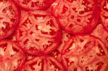 Tomatoes Slices Background