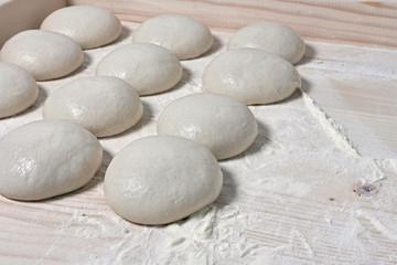 Dough balls, italian pizza