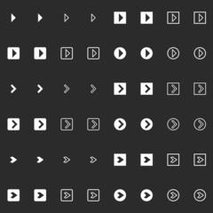 Modern arrow icon set