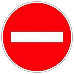 signalisation routière sens interdit