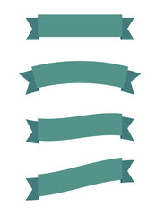 A simple vector set of green banners