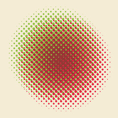 A retro halftone pattern vector