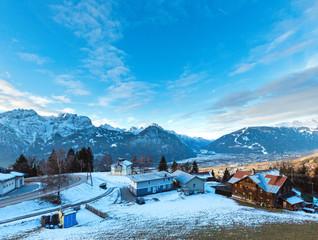 Winter mountain village (Austria).