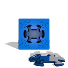 Cube Puzzle 009 - Blue & White