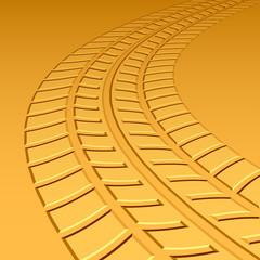 vector trace tyre hot sand desert