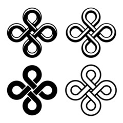 vector endless celtic black white knots